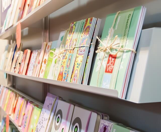 Bücherstand auf der Leipziger Buchmesse