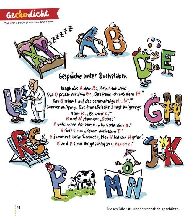 Gespräche unter Buchstaben: das ABC in einem Zweitlesergedicht für Querdenker