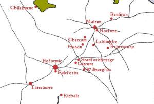 Schauplätze der Northumbria-Trilogie