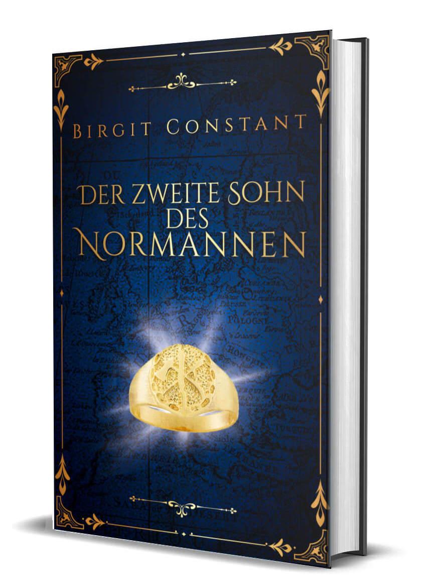 3D-Buchcover von Birgit Constant: Der zweite Sohn des Normannen; Design von Sandra Buhr @covermanufaktur.de